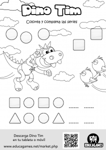 Dino Tim Printable sheet 1