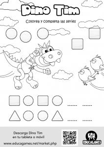 Dino Tim Printable sheet 1