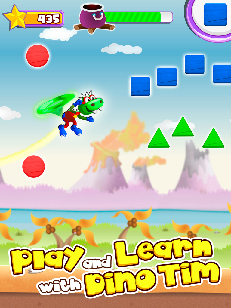dino tim learn shapes and colors for preschoolers